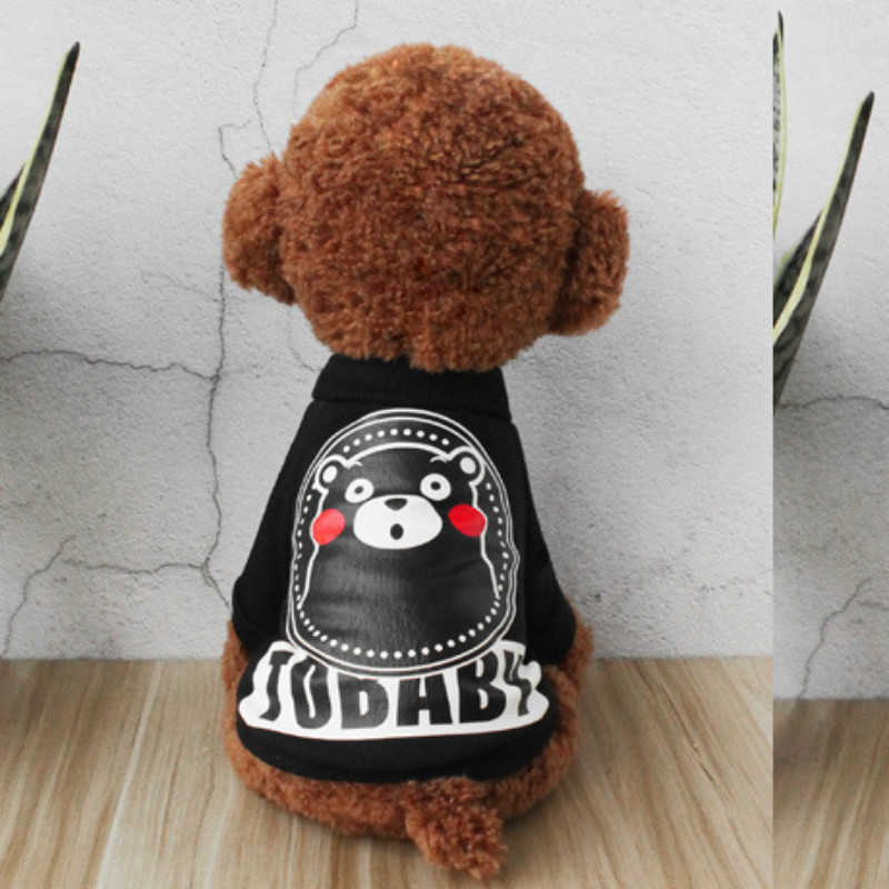 JU Pet Clothes Dog Clothes Cat Clothes VIP Teddy Two-foot Clothes Plus Velvet Sweater Small Dogs Spring Summer Autumn and Winter