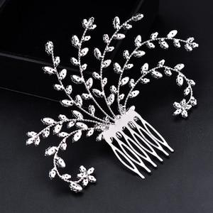 Image 2 - Tiara Hadiyana Fashion Bride Crown Jewelry Headpiec Soft Luxury Barrettes With Zircon Women BC4918 Bridal Hair Combs Accessories