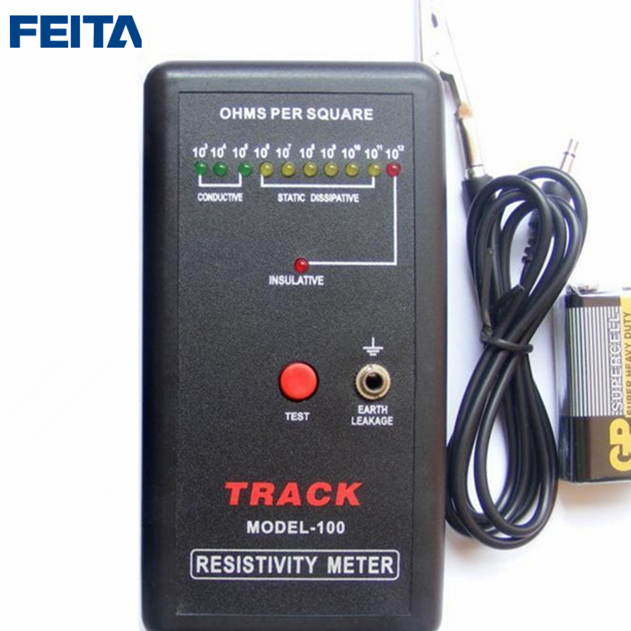 FEITA MODEL-100 ESD static Anti static surface impedance Tester for Anti-static Cleanroom, Electronic DIY Repair feita sl 030b test equipment electrostatic field meter static surface resistance tester with hammers