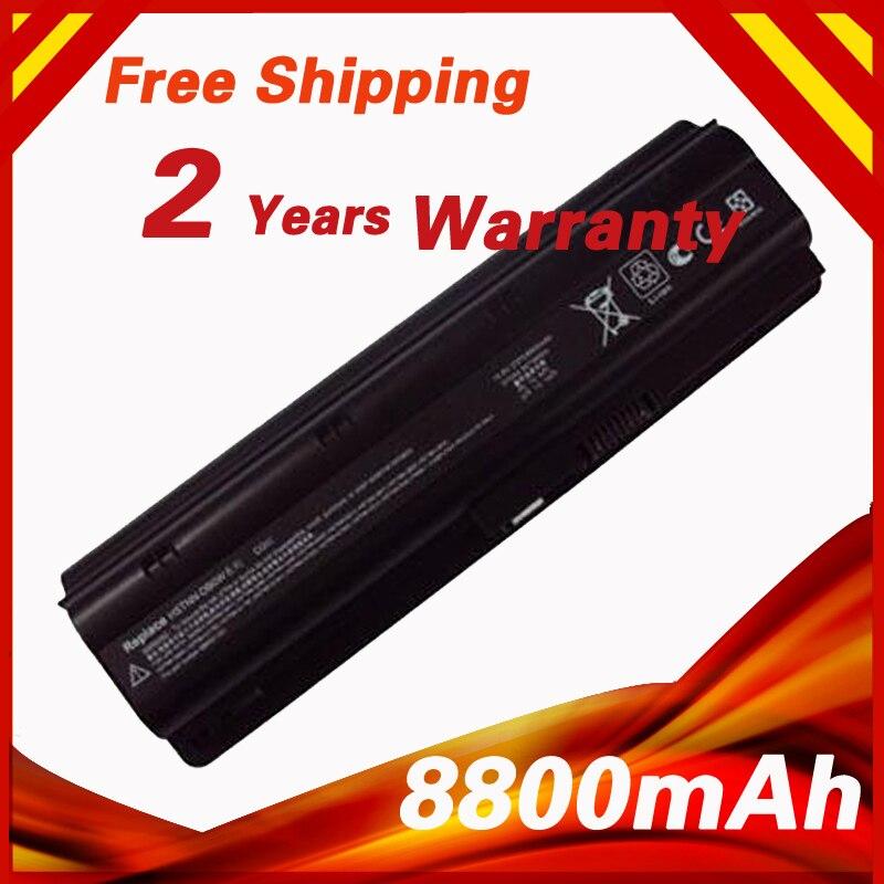 8800 mah Batterie D'ordinateur Portable pour HP MU06 MU09 WD548AA pour Compaq Presario CQ32 CQ42 CQ43 CQ56 CQ62 DM4 DV3 DV5 DV6 DV7 HSTNN-LB0W