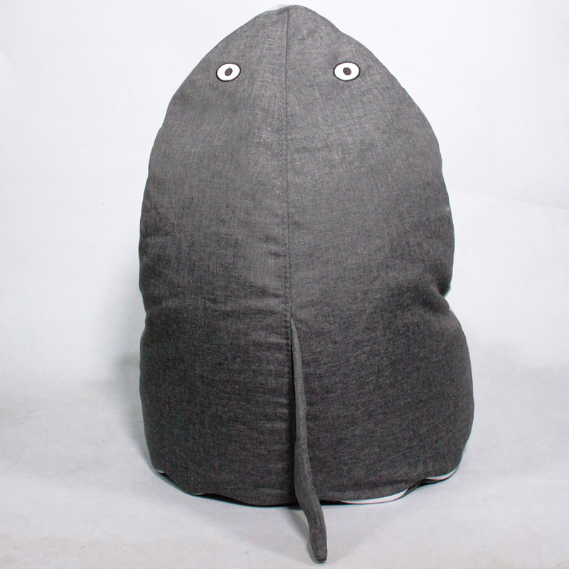 Grey Shark Children's Chair Cute Cartoon Shape Kids Sofa Chair Bean Bag with Removable Cover for Living Room Bedroom Furniture