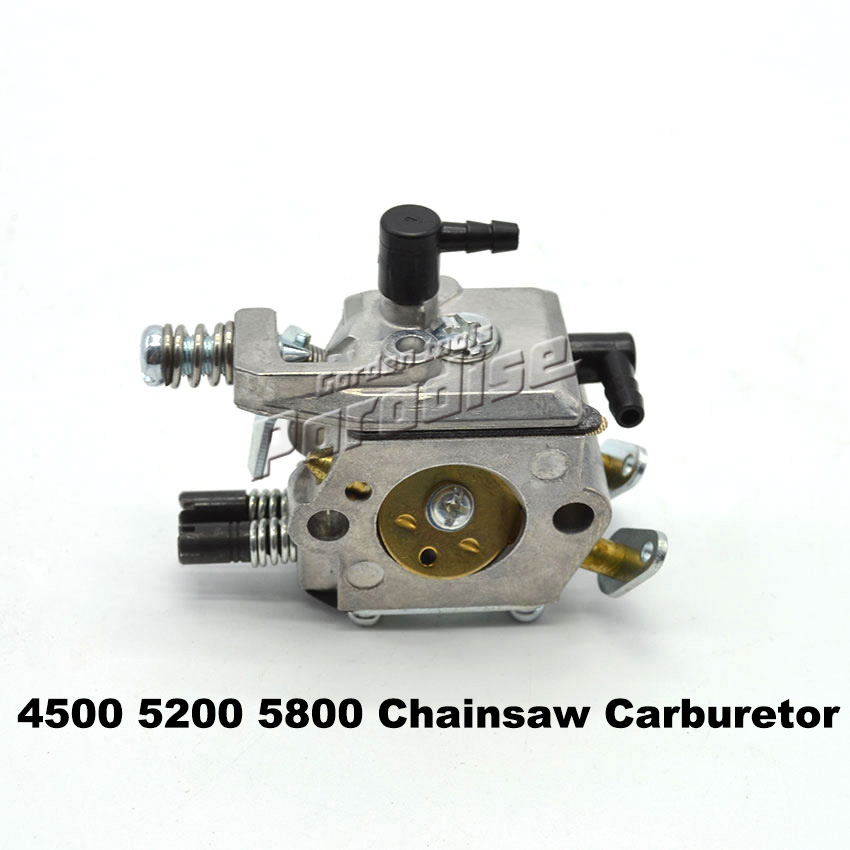New 45cc 52cc 58cc Chain Saw Carburetor 4500 5200 5800 Chainsaw Carburetor with Good Brand Stable Quality Color Box Packing 45cc 52cc 58cc chainsaw clutch replacement for poulan 4500 5200 5800 chain saw parts accessory