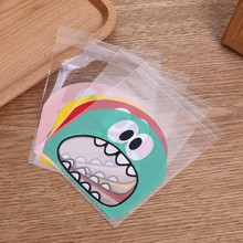 50pcs Cute Big Mouth Monster Plastic Bag OPP Self Adhesive Wedding Birthday Party Favor Cookie Candy Gift Packaging Bags