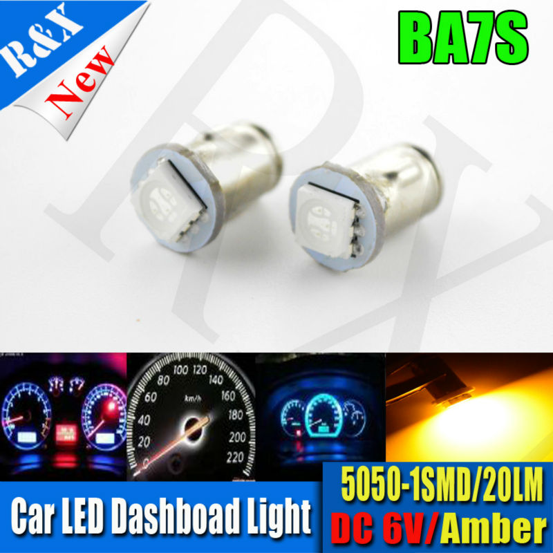 FREE SHIP 2pcs LED Car Instrument Panel Dash Light Bulb BA7S SMD 5050 6V 12V Dashboard Bulb Amber Yellow Blue White Red Green merdia h8 18 smd 5050 led 3w 110lm 10000k blue light car foglight 12v 2pcs