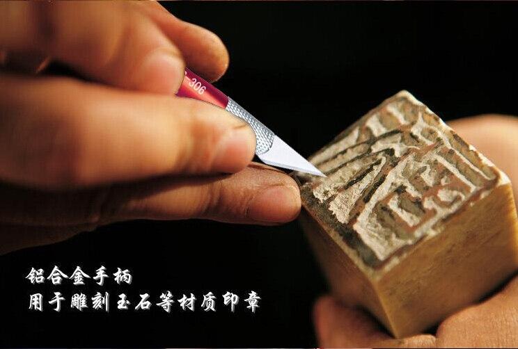 12 lames Art couteaux bois Sculpture outils rasoir passe-temps en cuir fruits nourriture artisanat Sculpture gravure Scalpel bricolage coupe PCB réparation