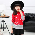 New 2016 Girls Rainbow Kids Brand Sweater Pullover Wool Knit Long-Sleeve Basic Warm Spring/Autumn School Girl Sweater Children