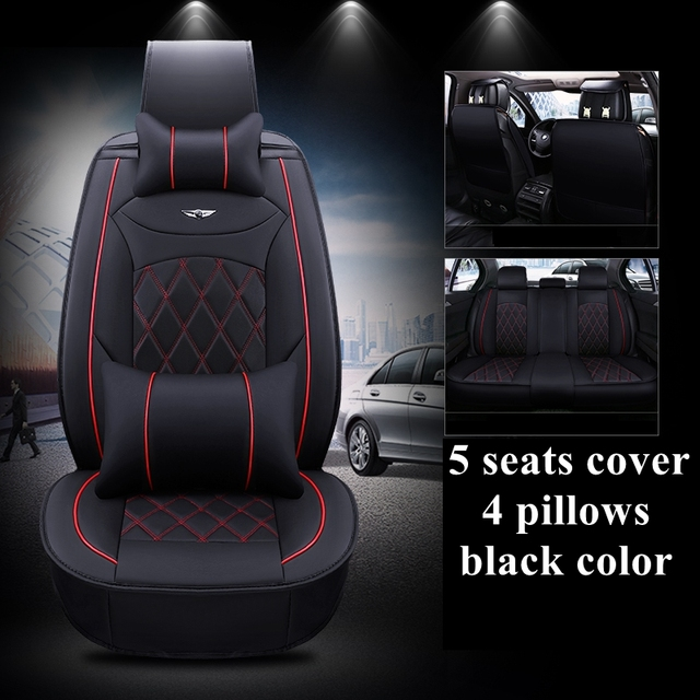 Dingdian 2018 Luxury Pu Leather Auto Universal Car Seat Covers