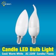 LED Bulb Lights E27 E14 3W AC Candle Light Lamp 220V SMD 2835 LED Lamps Cold Warm WhiteChandelier Partners Light