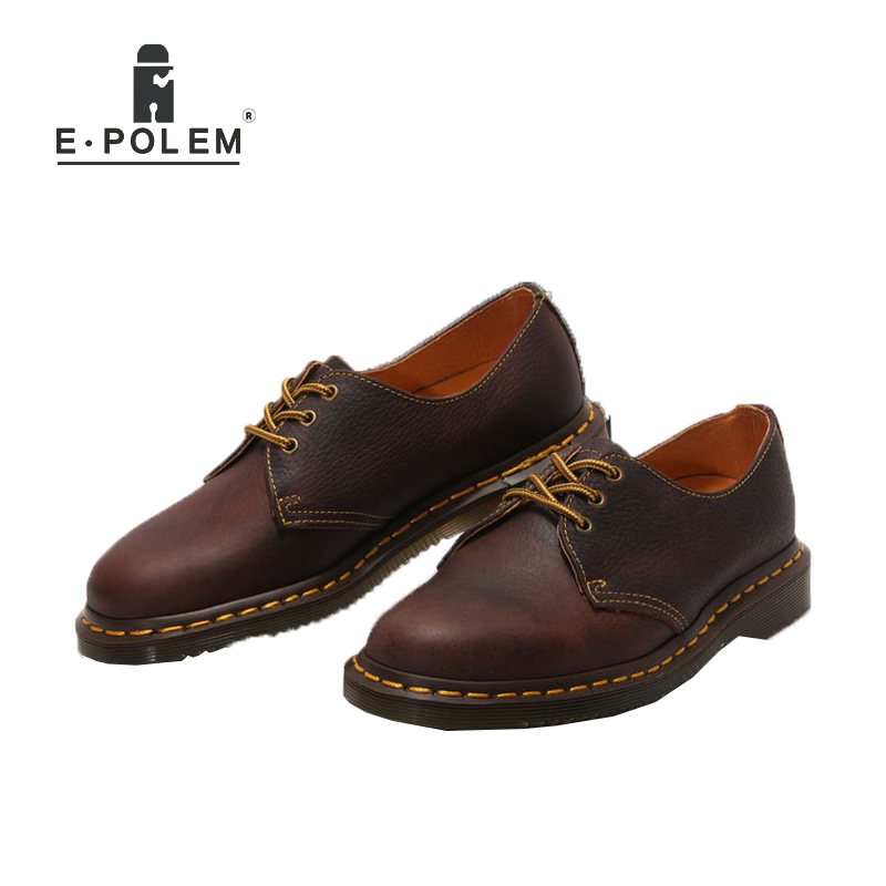 Genuine Leather Mens Oxford Shoes Breathable Men Flats Casual Martin Boots Shoes 2017 Spring Autumn Summer Lace Up Unisex Shoe the spring and summer men casual shoes men leather lace shoes soled breathable sneaker lightweight british black shoes men