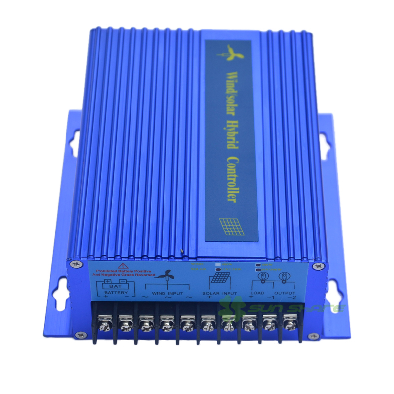 Free shipping 300w 400w 500w 600w 800w 900w Wind solar hybrid charger/controller/regulator ,connecting wind turbine solar panel 600w wind solar hybrid controller 400w wind turbine 200w solar panel charge controller 12v 24v auto with big lcd display