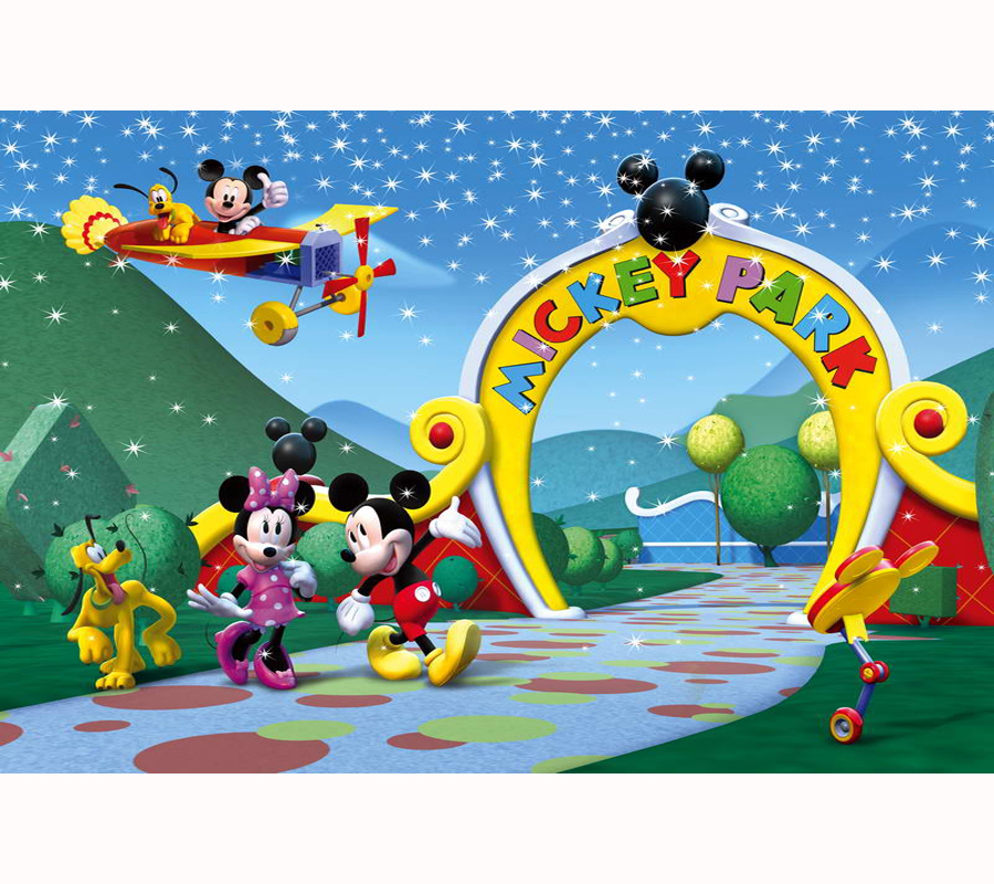 Photo Studio Consumer Electronics The Cheapest Price Mickry Mouse And Friends Theme Background Trees Brick Wall Backdrop For Kids Banner Name Birthday Party Table Top Decoration