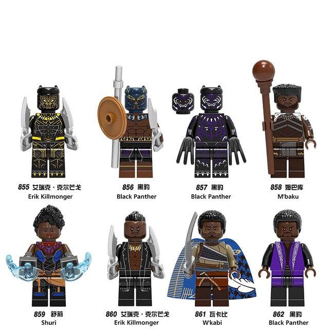 Super Heróis Vingadores Marvel Thanos Infinito Guerra Homem De Ferro Hulk Thor Black Panther Falcon Gamora Building Blocks toy jm41