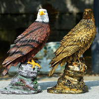Outdoor Garden Ornament Simulation Resin Decorative Eagle Animal Model bird Figurine Sculpture Statue for Yard Pathway 29cm Tall