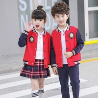 New Long Sleeve Sport Suit Spring Autumn Baby Girl Boy Clothes Sets Cotton Tracksuit For Kids