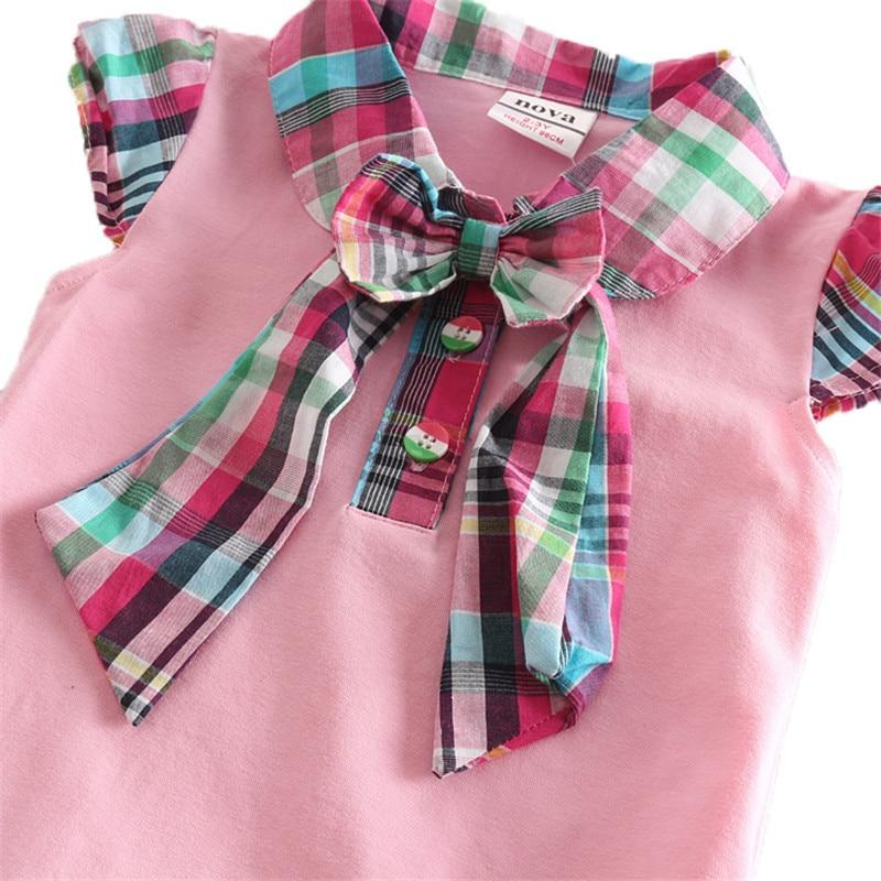 d5a2bebaf3c0 novatx H5023 girls clothes reatil new summer baby girl causal bow ...
