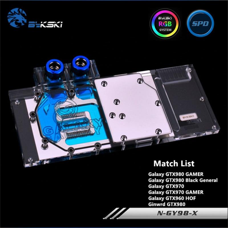 Bykski Full Coverage GPU Water Block For Galaxy Gainward GTX980 970 GAMER Graphics Card N-GY98-X gtx 970 в тольятти