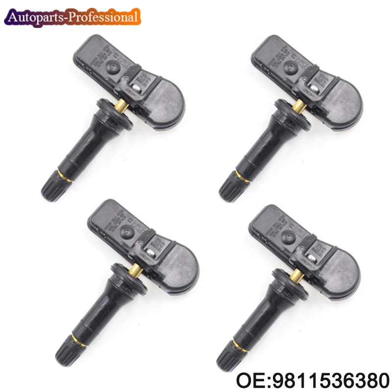 4 pcs lot 9811536380 9673860880 New Tire Pressure Monitor System TPMS Sensor 433Mhz For Peugeot For
