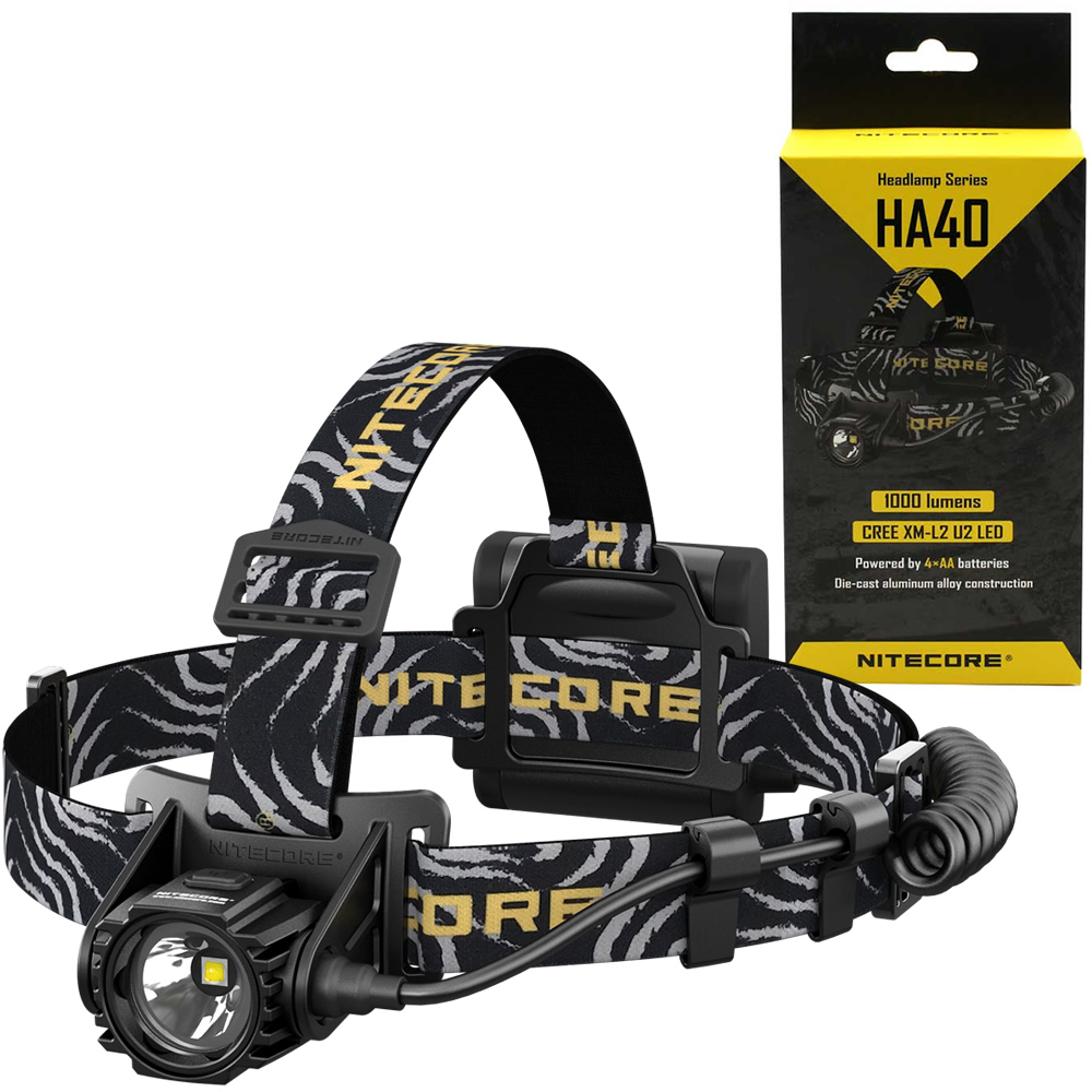 Nitecore HA40 1000 Lumens Cave Exploring Headlamp Uses 4xAA Without Battery Waterproof Light for Late Night Walker Free Shipping
