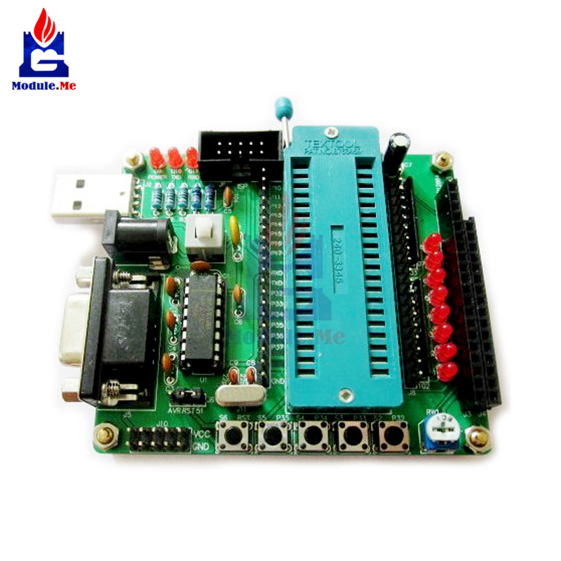 C51 AVR MCU development board DIY learning board kit Parts components self-recovery Fuse for 51 series microcontroller ATmega16