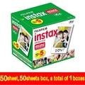 Genuino 50 unids fuji fujifilm instax mini película 8 borde blanco para 8 7 7 s 50 s 90 25 dw 50i Compartir SP-1 Cámaras Instantáneas Rápida gratis