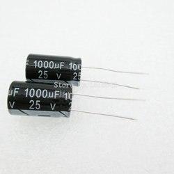 10 pçs/lote 25v 10*17 capacitor eletrolítico de Alumínio 1000uF Capacitor Eletrolítico 25v 1000uf Hot sale