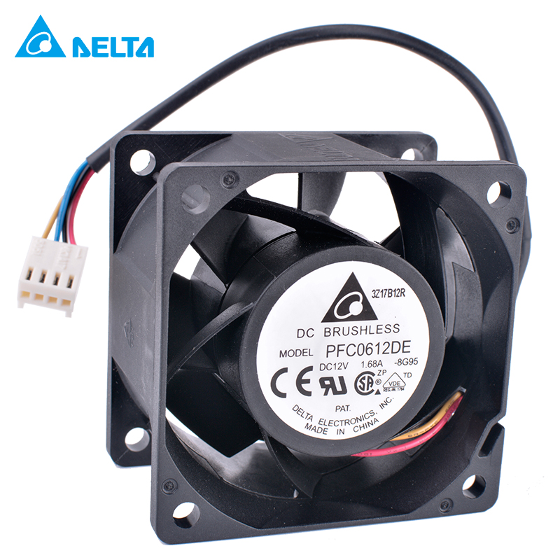 Original Delta PFC0612DE 6038 6cm 60mm fan 12V 1.68A Four-wire 4pin Super Wind Server Fan