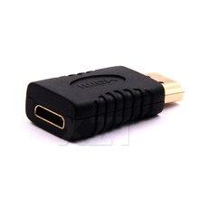 -Função Mutil Banhado A Ouro HDMI Macho para Mini HDMI Fêmea Adaptador Conversor para HDTV 1080P HDMI Completo