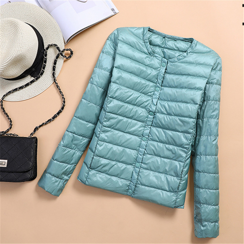 Winter Slim Women Short   Down     Coat   Light Thin White Duck   Down   Jackets Single Breasted   Down   Jacket Female Jacket   Coats   Outwear 540