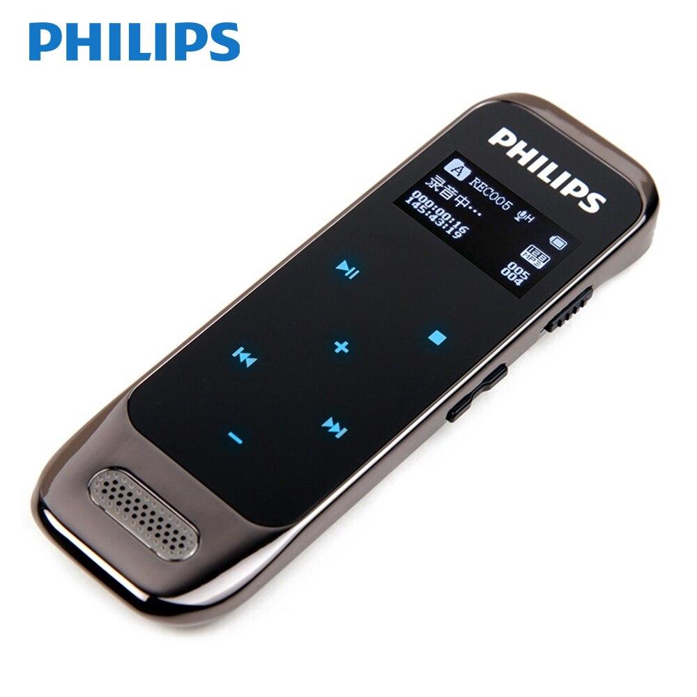 PHILIPS enregistreur vocal 8GB capteur tactile boutons stylo jusqu'à 2160 heures d'enregistrement audio écran OLED noir bleu blanc couleur VTR6600
