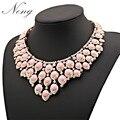 Za 2017 bohemio étnico choker collares grandes mujeres collar de piedras y cristales maxi collier femme mujer joyería venta n1277