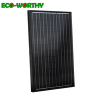 ECOworthy 60w 18V Monocrystalline solar power cell panel for 12V battery charger 100W 18v mono solar photovoltaic panel system