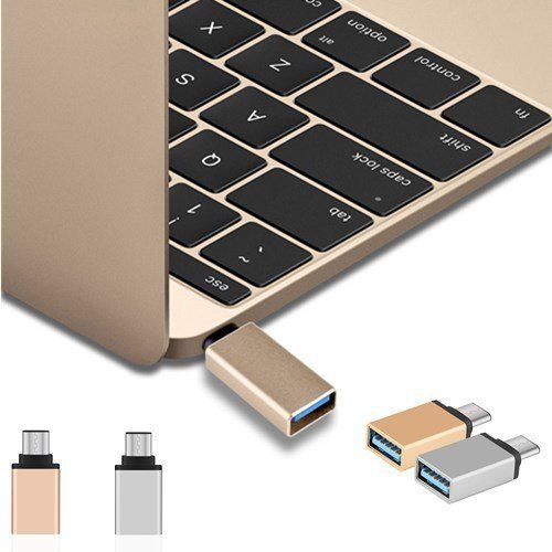 2 Colors Type-C To USB Adapter OTG Converter USB 3.0 Convert To Type C USB-C Port Adapter Charging Sync For MacBook Pixel Lumia