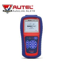 Читатель Авто Код диагностики Autel Автоссылка AL419 OBDII может сканировать инструмент с TFT Цвет Экран код читателя советы по устранению неполадок код