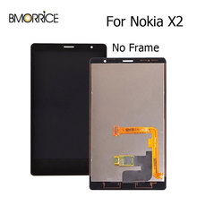 Original LCD Display For Nokia X2 RM-1013 RM-1014 Touch Screen Digitizer Without Frame Full Assembly Replacement New 4.3