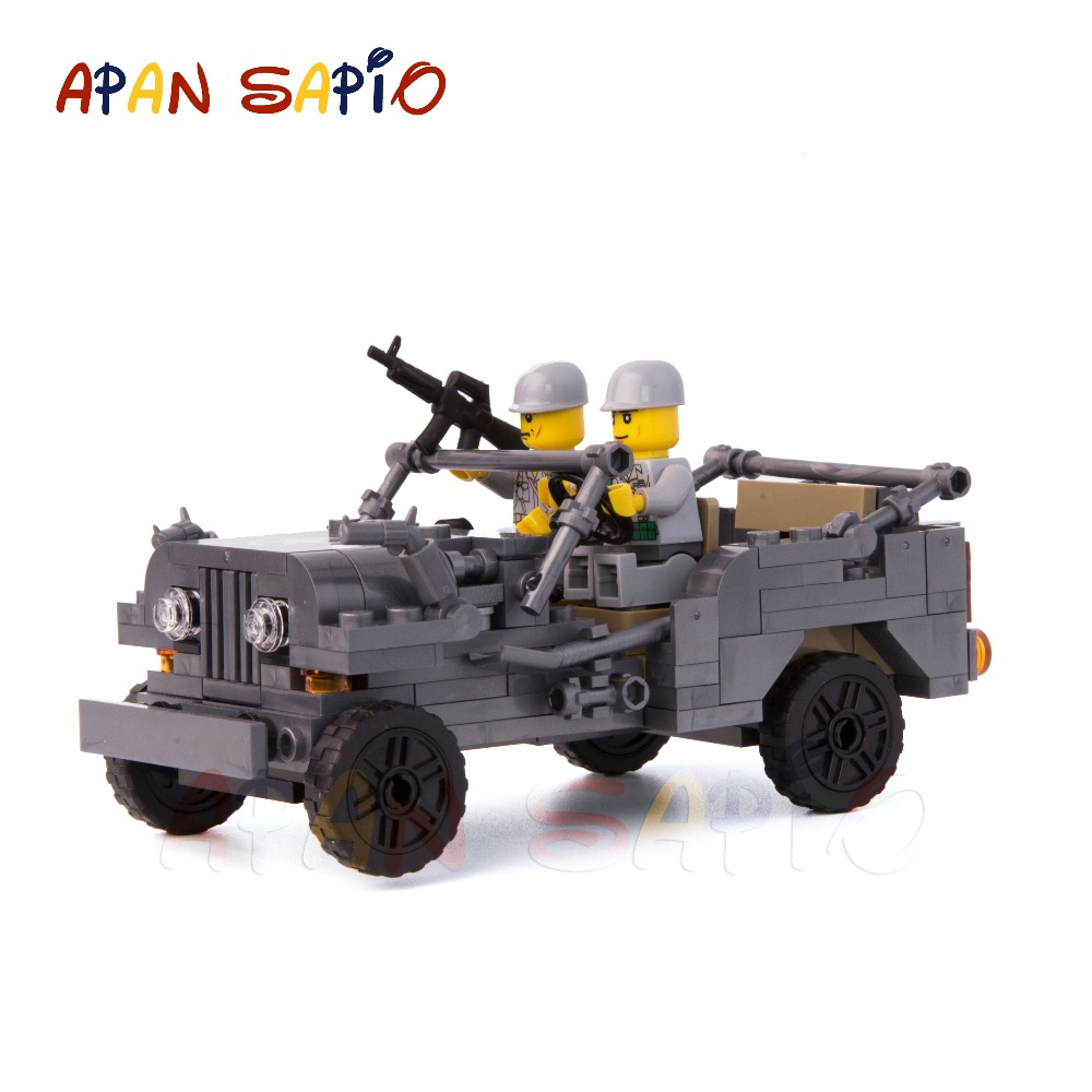 WW2 ville modèle blocs de construction voiture bloc de construction compatible avec les marques jouets éducatifs pour enfants cadeau d'anniversaire