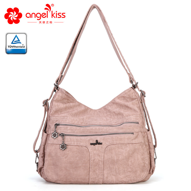 Angelkiss Authentic brand Europe and the United States fashion large capacity shoulder diagonal package Women s