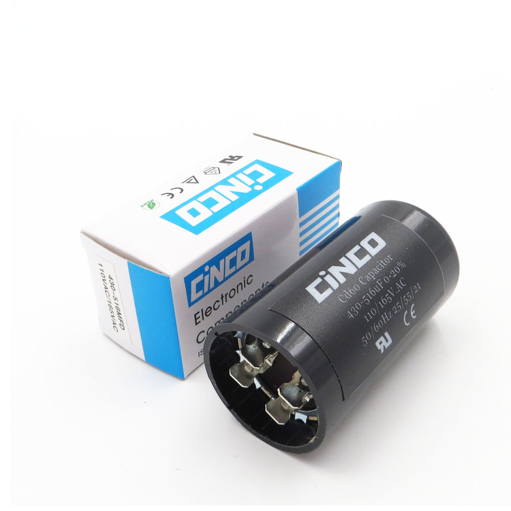 430-516 Uf 110 V 125 V 165 V Cd60 Motor Starten Kondensatoren Motor Ausgangs 430-516 Mfd Uf Mf Kompressor Hvac Elektrolytischen 110vac 125vac