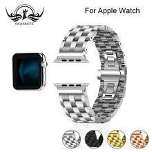 Нержавеющая сталь для apple watch band 4 42 мм/38 мм 3 iwatch