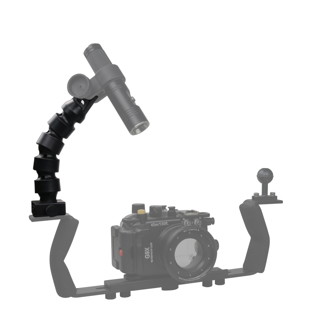 Diving YS Flex Joint Arm System for Seafrogs Meikon Waterproof Camera Housing Accessory for GoPro Nikon Photography Underwater in Sports Camcorder Cases from Consumer Electronics