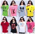 Ropa de Maternidad de moda Embarazo Elegante Blusas de Algodón de Seda Del Palo Del Verano Camisas Para Mujeres de La Señora Más El Tamaño de La Muchacha Camiseta de La Camiseta