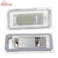Error Free Pair 18 LED 6000K For HID License Plate Light For BMW E46 4D 4Doors