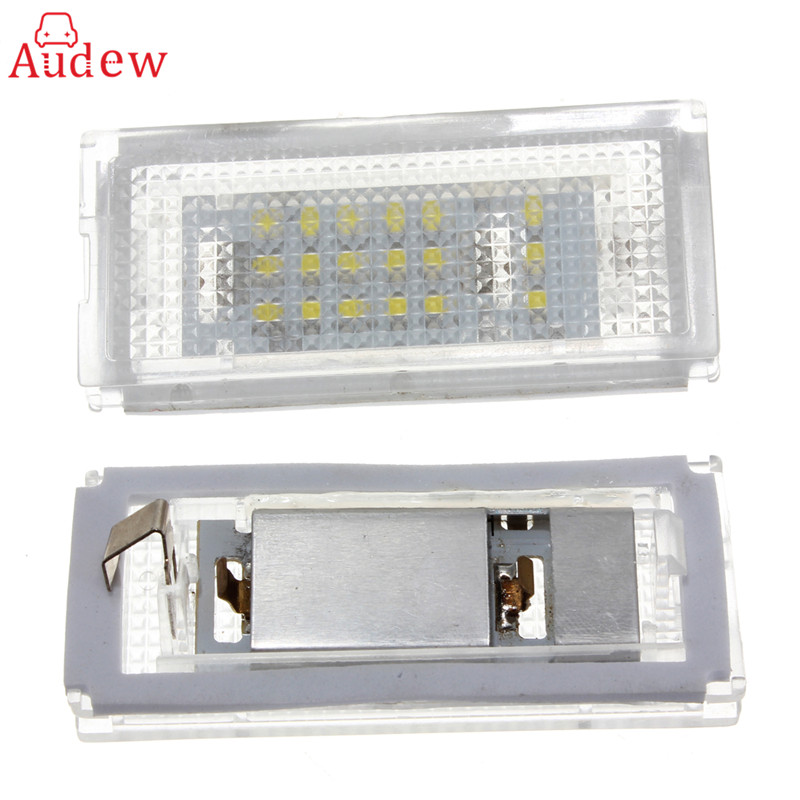 Error Free Pair 18 LED 6000K For HID License Plate Light For BMW E46 4D 4Doors 323i 325i 328i  99-03