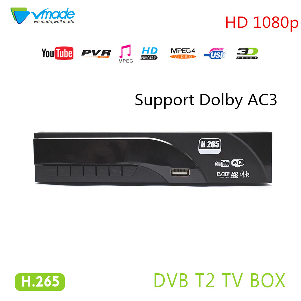 Vmade Newest HD Digital Terrestrial TV Receiver DVB T2 Set Top Box MPEG-2/4 H.265 Support AC3 YouTube PVR HD 1080p DVB T2 Tuner vmade newest hd digital terrestrial tv receiver dvb t2 set top box mpeg 2 4 h 265 support ac3 youtube pvr hd 1080p dvb t2 tuner