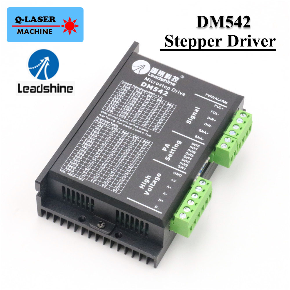 Leadshine 2 Phase Stepper Driver DM542 for Analog Digital Stepping Motor Controls leadshine stepper motor driver 3dm 683 3 phase digital stepper drive max 60vac 8 3a