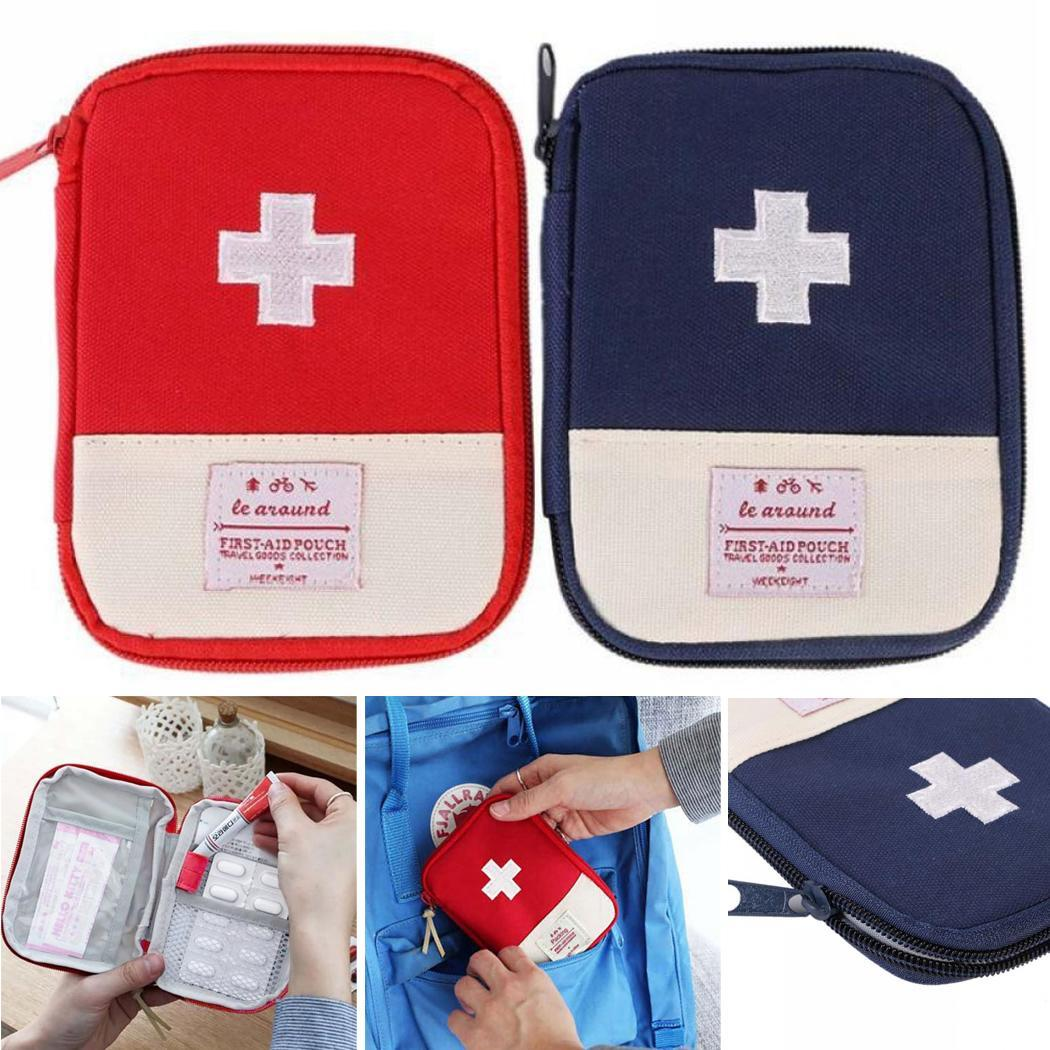 Emergency Medical Bag Mini Oxford Cloth Emergency Medical Bag 2 Interior Compartments First Aid Kit Travel Outdoor Box Travel