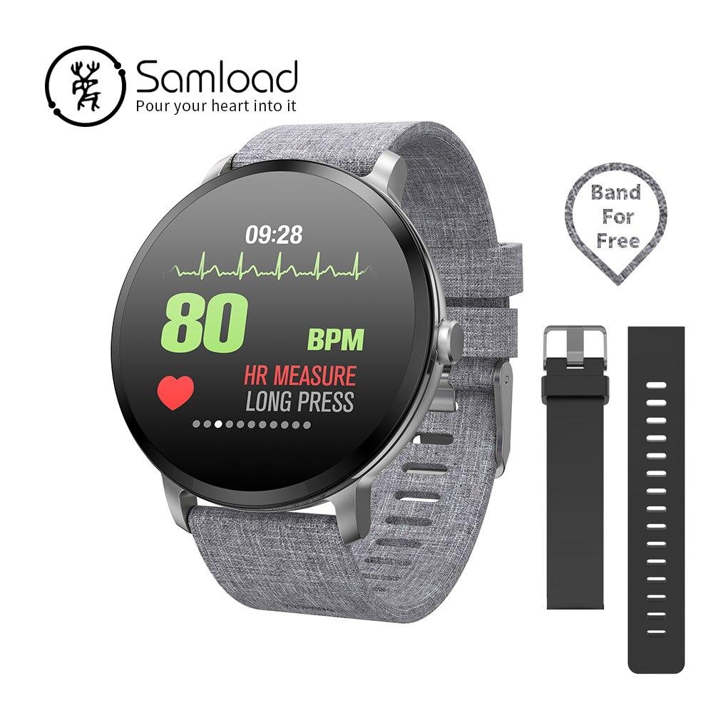 Samload V11 Astuto della vigilanza di Bluetooth di Sport Wirstband Impermeabile Passometer Frequenza Cardiaca Tracker di Allarme orologio Per Samsung Sony Huawei