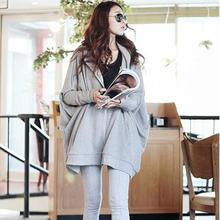 Large size women's Autumn hot female student summer cotton casual hoodie thin coat big yards