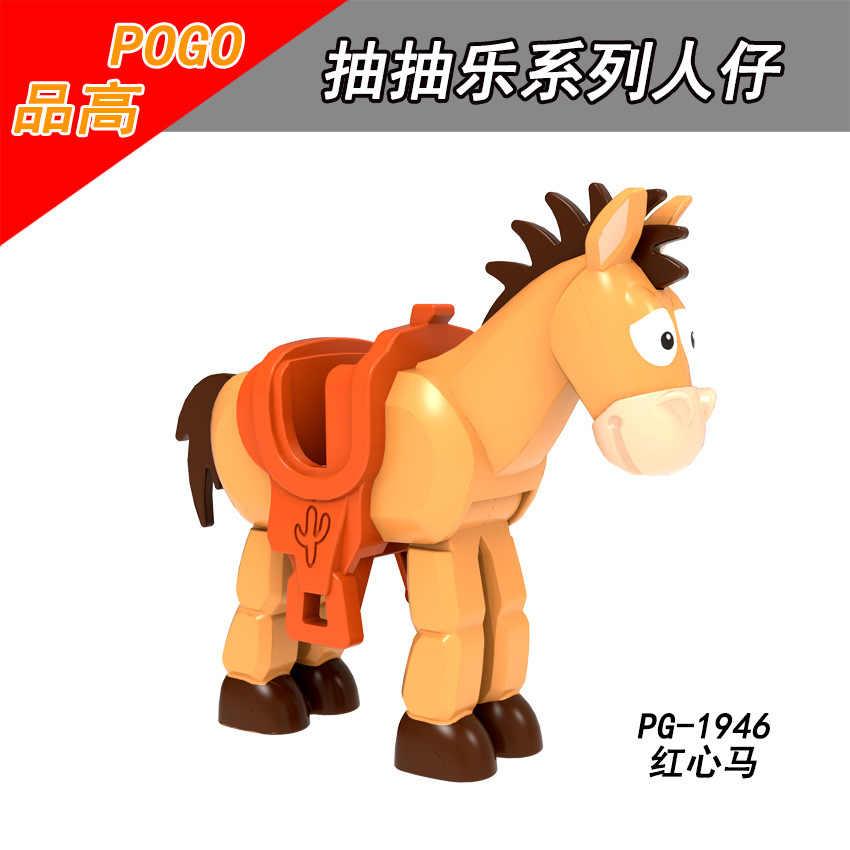 Blok Mainan Cerita Film Woody Jessie Buzz Lightyear Action Figure Merakit Blok Bangunan Mainan untuk Anak Toy Story Angka