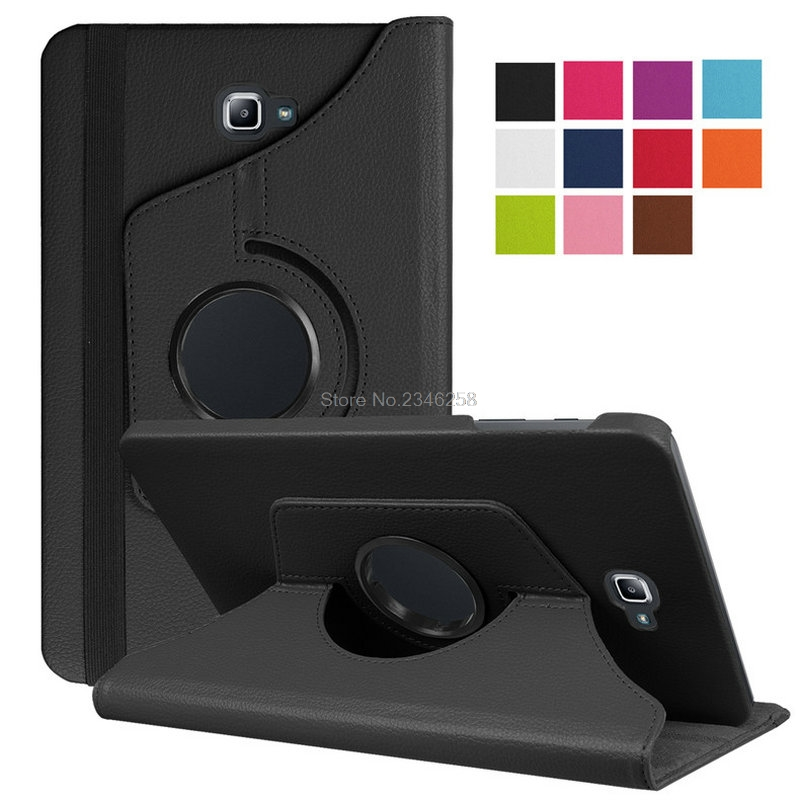 360 Degree Rotation Case For SAMSUNG T580 Galaxy Tab A 10.1 2016 WiFi PU Leather Smart Stand Cover Coque Funda