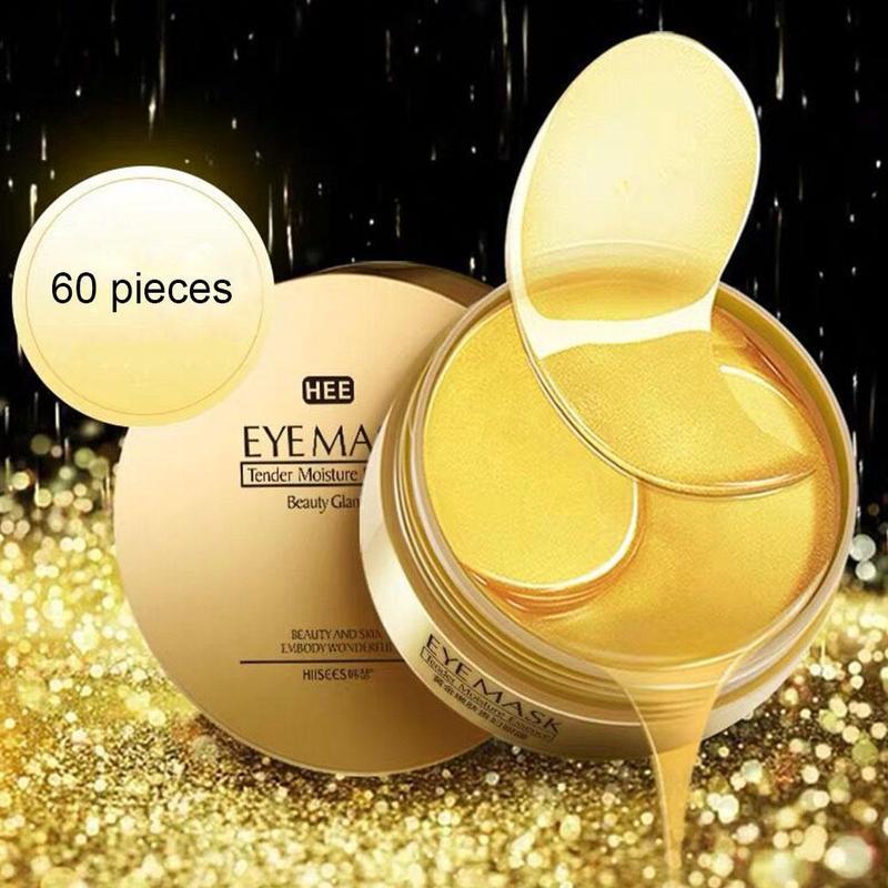 60 pçs ouro/algas colágeno máscara de olho rosto anti rugas gel sono máscara de ouro remendos de olho colágeno hidratante máscara de olho cuidados com os olhos 1